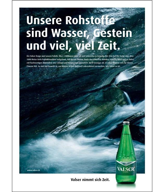 Valser: Der Star der neuen Kampagne ist zwei Millionen Jahre alt