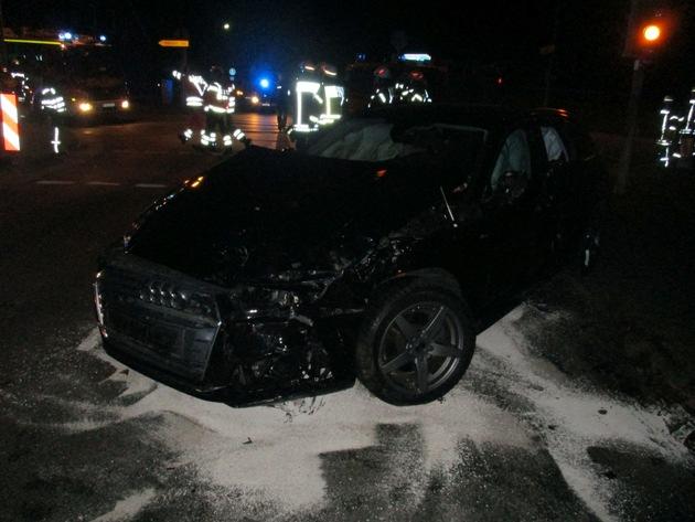 beschädigter Audi