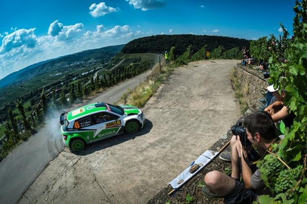 SKODA Youngster Kreim bei der Rallye Deutschland weiter in den Top Ten