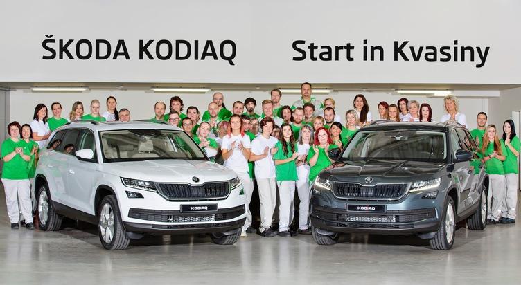 Serienproduktion des neuen SKODA KODIAQ im Werk Kvasiny gestartet