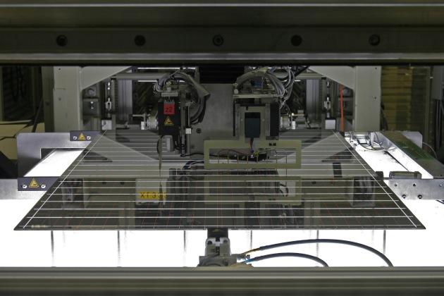 """Im Bereich Dünnschichttechnologie betreibt SCHOTT Solar derzeit eine Kleinserienfertigung in Putzbrunn bei München. Die Verwendung dieses Bildes ist für redaktionelle Zwecke honorarfrei. Abdruck bitte unter Quellenangabe: """"obs/Schott AG"""""""