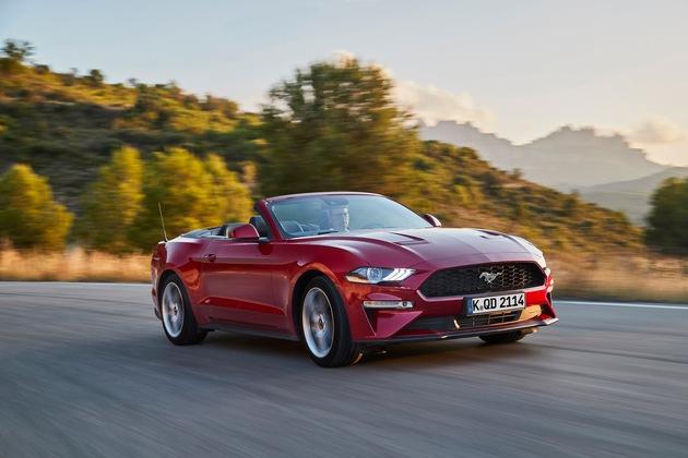 """Der Ford Mustang ist auf Wunsch erstmals mit einem 10-Gang-Automatikgetriebe lieferbar. Damit soll die voraussichtlich bis zu 330 kW (450 PS) starke V8-Variante mit 5,0 Liter Hubraum als der am schnellsten beschleunigende Mustang in die mehr als 50-jährige Erfolgsgeschichte dieser Baureihe eingehen. Die Auslieferung des neuen Ford Mustang an europäische Kunden beginnt 2018. Weiterer Text über ots und www.presseportal.de/nr/6955 / Die Verwendung dieses Bildes ist für redaktionelle Zwecke honorarfrei. Veröffentlichung bitte unter Quellenangabe: """"obs/Ford-Werke GmbH"""""""