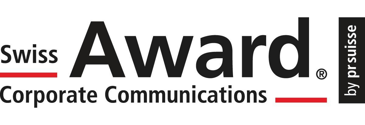 """Neu angepasstes Logo, Swiss Award Corporate Communications ist eine eingetragene Bild- und Wortmarke. Weiterer Text über ots und www.presseportal.ch/de/nr/100008000 / Die Verwendung dieses Bildes ist für redaktionelle Zwecke honorarfrei. Veröffentlichung bitte unter Quellenangabe: """"obs/Award Corporate Communications"""""""