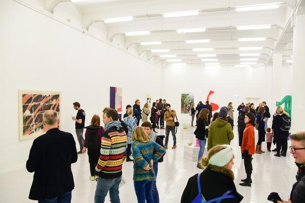 500 Quadratmeter für junge Kunst: Im 19. Jahrhundert ein Wirtschaftsgebäude der Post, heute die a&o Kunsthalle Leipzig - eröffnet letzten Freitag (Foto: a&o).