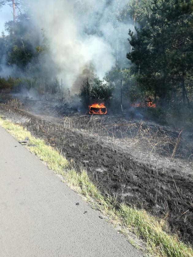 Brand an der A2
