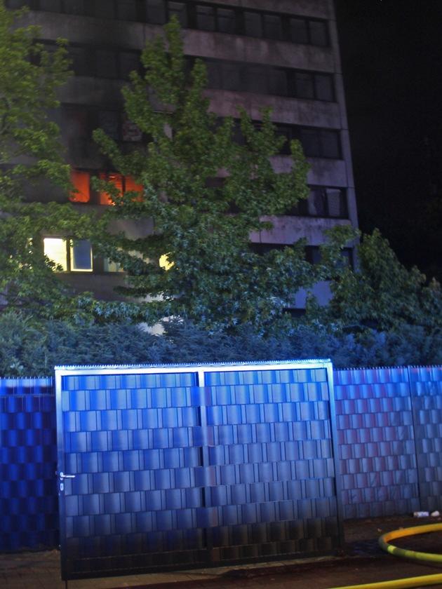 Bild vom Brandort (Foto 1)