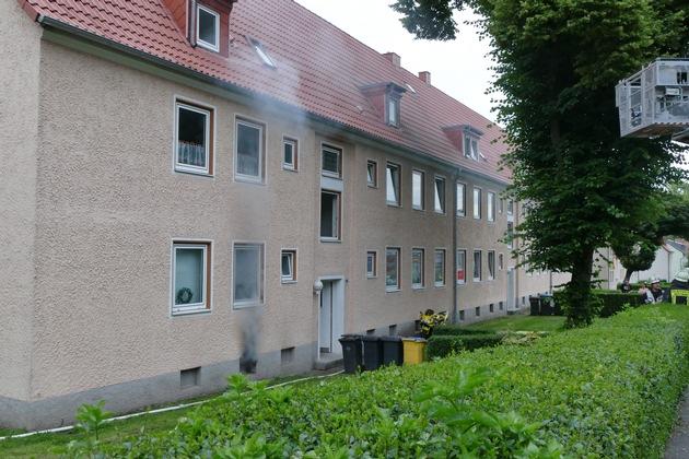 FW-DO: Kellerbrand in einem Mehrfamilienhaus in Kley