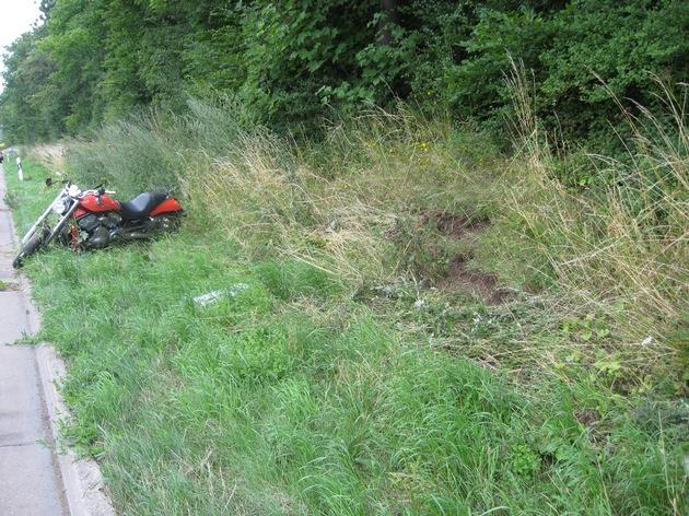 POL-HI: Verkehrsunfall auf der BAB 7 bei Hildesheim, alleinbeteiligter Motorradfahrer schwerverletzt - Nachtrag