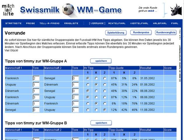 Swissmilk ouvre les paris pour la coupe du monde