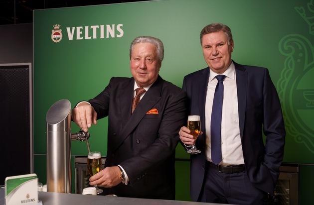 Premium-Brauerei legt deutlich über Markttrend zu: Mit Pils und Grevensteiner erreicht Veltins-Ausstoß eine neue Bestmarke