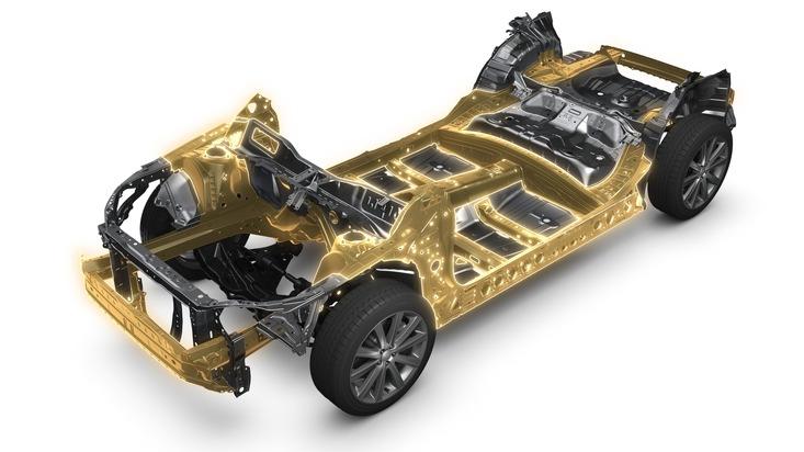 """Eine von sechs Initiativen der aktuellen Subaru Unternehmensstrategie: Die globale Plattform. Weiterer Text über ots und www.presseportal.de/nr/34801 / Die Verwendung dieses Bildes ist für redaktionelle Zwecke honorarfrei. Veröffentlichung bitte unter Quellenangabe: """"obs/Subaru"""""""