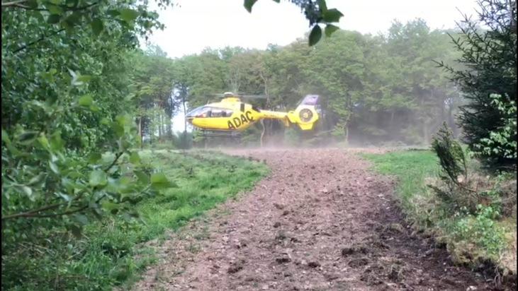 FW-EN: Rettungshubschrauber landet nach Reitunfall in Elfringhausen