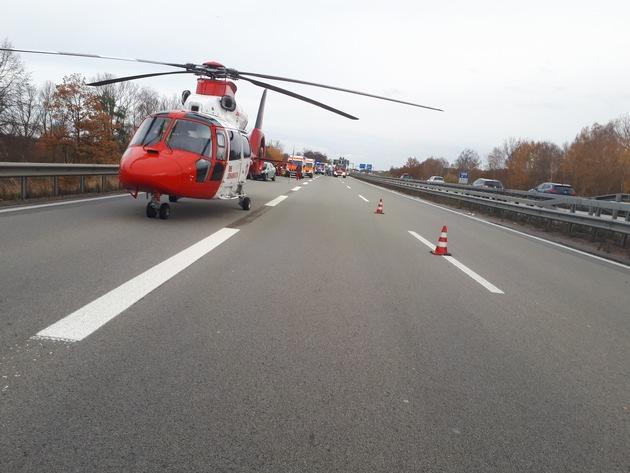 Unfallstelle Richtungsfahrbahn Saarbrücken