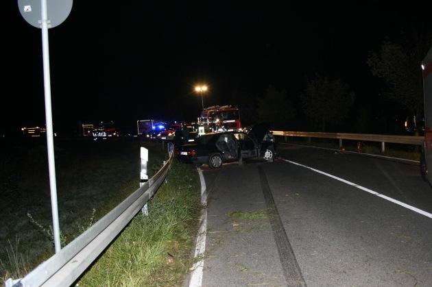 SHPP-GG: schwerer Verkehrsunfall mit 8 verletzten Personen und Trunkenheit