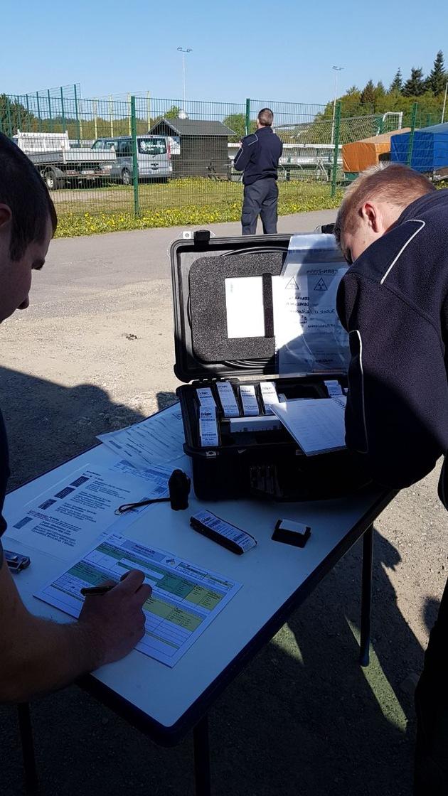 ABC-Erkundereinheit Gevelsberg bei der Messung in Olpe