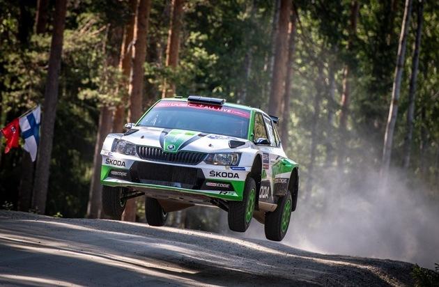 Rallye Schweden: SKODA und Kalle Rovanperä kämpfen um Tabellenführung in der WRC 2 Pro-Kategorie
