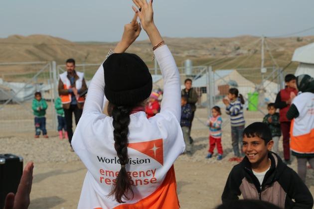 Syrische Kinder in einem Flüchtlingslager werden in einem Kinderschutzzentrum in Nordirak betreut