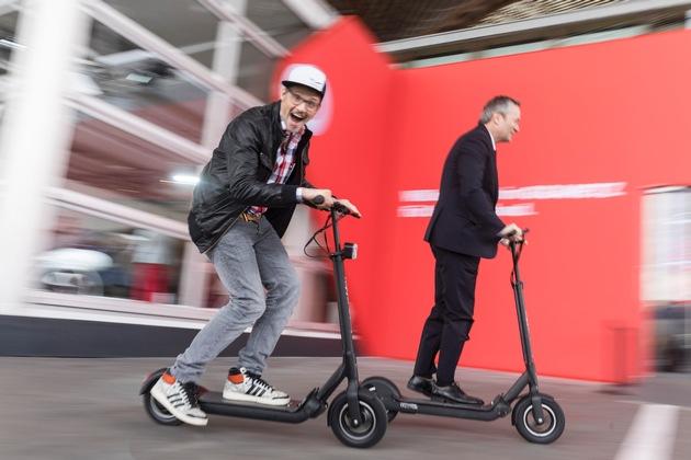 eRoller2Go: Vodafone vernetzt das Zweirad der Zukunft