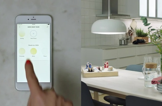 ikea wird digital smart lighting kollektion kommt mit der tr dfri app pressemitteilung ikea. Black Bedroom Furniture Sets. Home Design Ideas