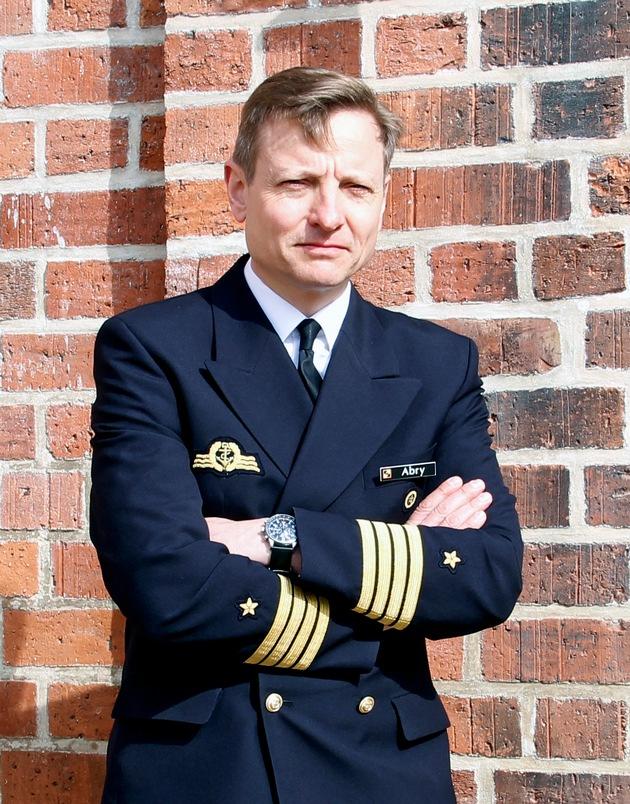 Kapitän zur See Wilhelm Tobias Abry (49) übernimmt das Kommando über die Marineschule Mürwik.  (C) PIZ Marine