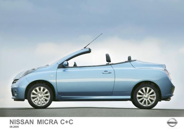 """Avec la Micra C+C, Nissan écrit un nouveau chapitre dans l'histoire à succès de la gamme Micra. Ce coupé/cabriolet se montre à l'aise par toutes les conditions météorologiques : plaisir plein air lorsque le soleil luit, et une solide protection hardtop en cas de mauvais temps. Texte complémentaire par ots. L'utilisatin de cette image est pour des buts redactionnels gratuite. Reproduction sous indication de source """"obs/Nissan""""."""