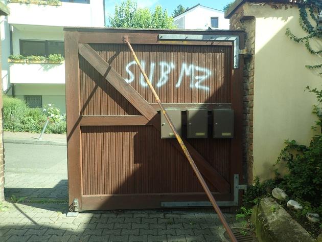 POL-PPMZ: 14 Graffitis in Mainz-Bretzenheim