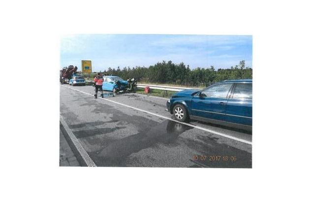 Gesamtaufnahme der Unfallstelle