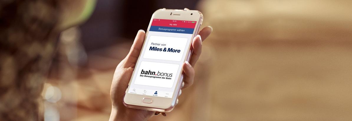 Bei HRS Punkte sammeln für Miles & More und bahn.bonus