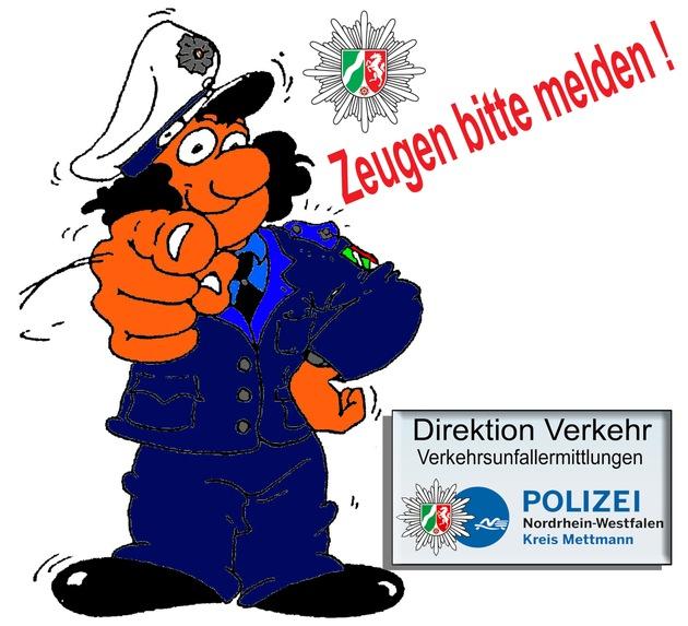 Symbolbild: Zeugensuche nach Verkehrsunfallfluchten im Kreis Mettmann