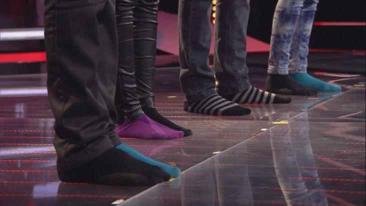 """Dieses """"Battle"""" zieht allen die Schuhe aus: Samuel (14), Sabeshni (12) und Hannah (14) rocken """"The Voice Kids"""" in Socken"""