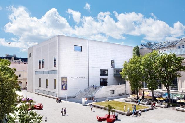 BILD zu OTS - Leopold Museum, Wien im MuseumsQuartier, Außenansicht