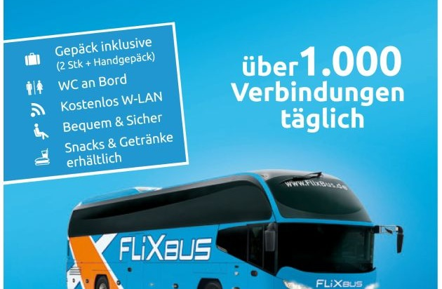 mit lidl und flixbus f r 9 99 euro durch deutschland reisen presseportal. Black Bedroom Furniture Sets. Home Design Ideas