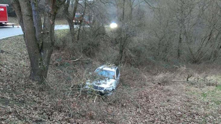 Wirtschaftlicher Totalschaden entstand am Sonntag bei einem Unfall auf der Kreisstraße zwischen Olsbrücken und Wörsbach.