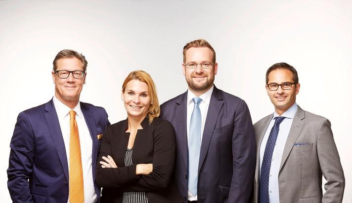 Drooms M&A und Corporate Finance-Team (v.l.n.r.): Chris Beckmann, Astrid Beckmann, Alexander Groß, Martin Alamri