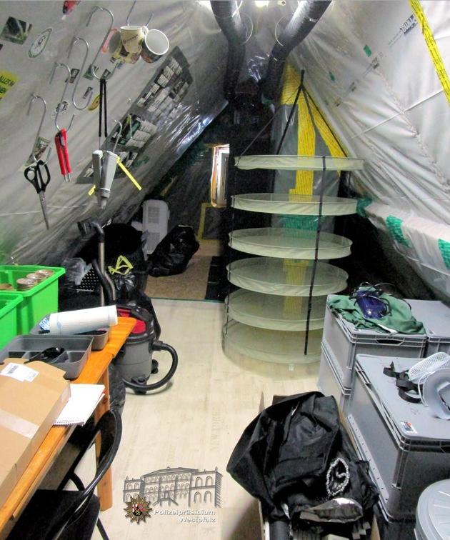 POL-PPWP: Drogenfahnder heben Indoor-Plantage aus