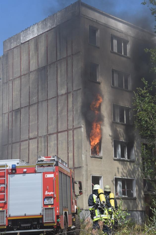simmulierter Wohnungsbrand