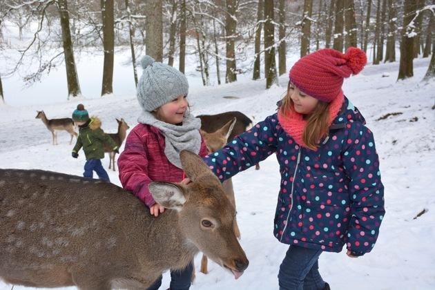 Das Wildparadies Tripsdrill hat auch im Winter täglich geöffnet
