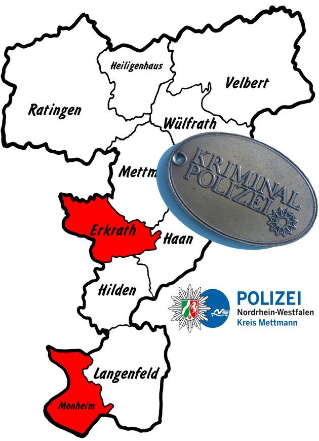 Symbolbild: Kriminalpolizei ermittelt in Erkrath und Monheim nach aktuellen Einbrüchen