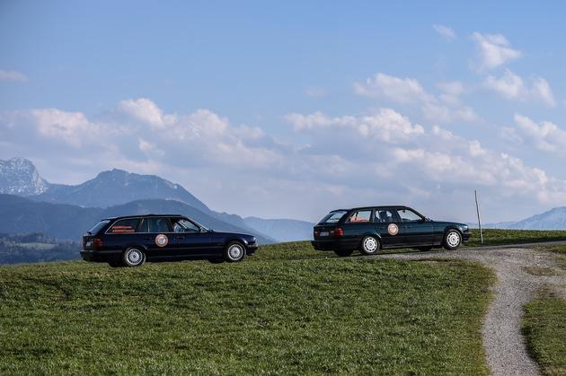 """Teamvorstellung des Teams """"5ever"""" mit BMW 520i touring als Teilnehmer der Allgäu Orient Rallye 2017 (04/2017). Weiterer Text über ots und www.presseportal.de/nr/28255 / Die Verwendung dieses Bildes ist für redaktionelle Zwecke honorarfrei. Veröffentlichung bitte unter Quellenangabe: """"obs/BMW Group"""""""