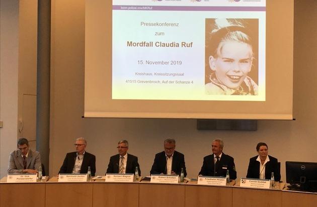 POL-BN: Bonn/Rhein-Kreis Neuss/Euskirchen: Mordfall Claudia Ruf - Staatsanwaltschaft und Polizei... - Presseportal.de