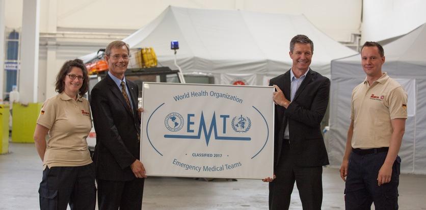 Johanniter haben weltweit erstes klassifiziertes Nothilfeteam
