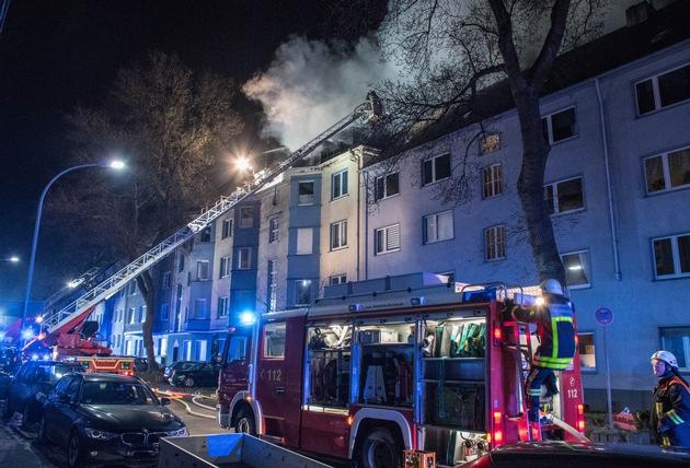 Bild: Feuerwehr Bochum / Blick auf die Einsatzstelle