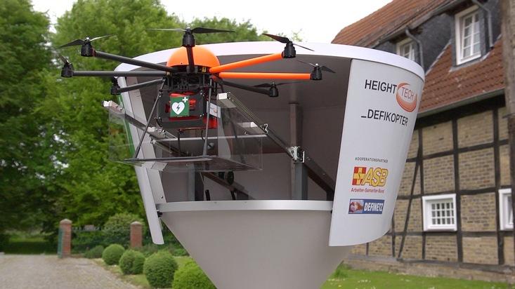 ASB fordert Einbindung von Defikoptern in den Rettungsdienst / Schnelle Hilfe aus der Luft kann Leben retten