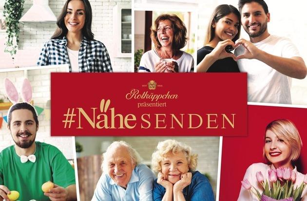 Rotkäppchen präsentiert #NäheSENDEN / Dieses Osterfest wird trotzdem persönlich: Videogrüße über das Fernsehen