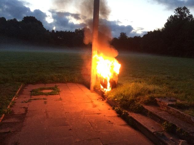 FW Lage: Brennt Stromverteilerkasten - 21.08.2017 - 5:46 Uhr