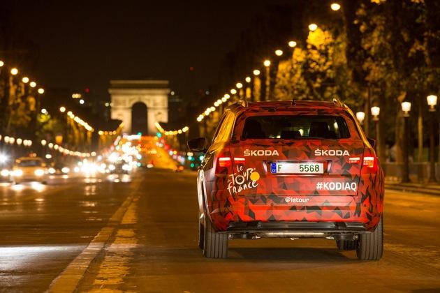 SKODA KODIAQ inspiziert die Schlussetappe der Tour de France