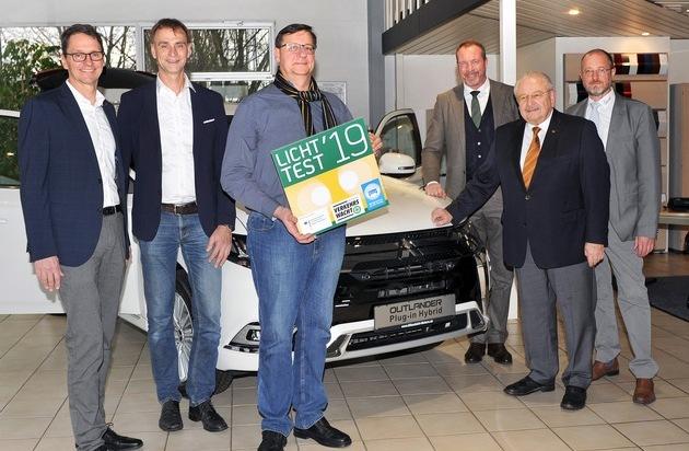 Licht-Test Gewinnspiel: Mitsubishi Outlander geht nach Hessen