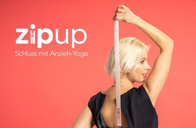 Im Nu ist der Reißverschluss am Rücken zu: Neuer Kleiderbutler zipUP bei ProSieben-Show