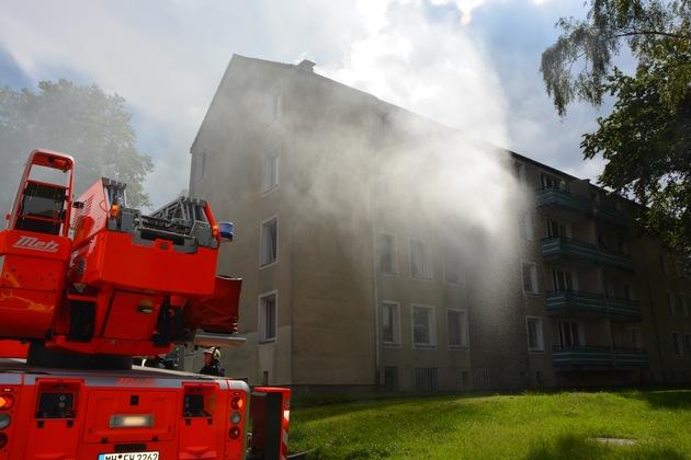 FW-MH: Wohnungsbrand mit verletzter Person