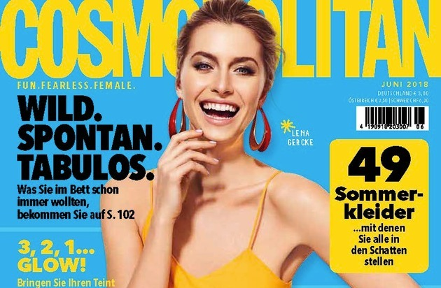 Model Lena Gercke In Cosmopolitan Um Zickig Zu Sein